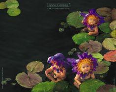 Purple Flower Water Babies--Anne Geddes