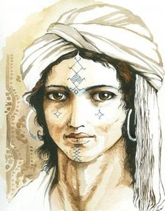 Berber face tato