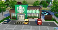 Starbucks Coffee by audrcami at L'UniverSims via Sims 4 Updates