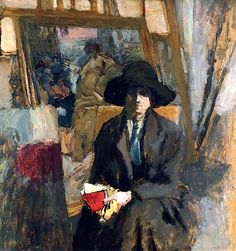 """"""" Edouard Vuillard (French, Elève dans le Louvre, Oil on board laid down on masonite. It is likely that the model for the present painting is either Lucie Hessel or. Painting People, Figure Painting, Painting & Drawing, David Painting, Pierre Bonnard, Edouard Vuillard, Edouard Manet Paintings, Paul Gauguin, Post Impressionism"""