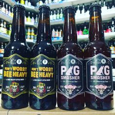 Don't Worry Bee Happy - 7.8% Wee Heavy beer & Pig Smasher - 6.8% American Red from @weirdbeardbrewco