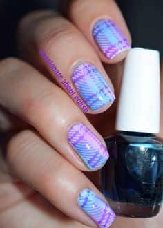 Nail Art Stamp Template Love Heart Plaid Patt... at $2.99. http://www.bornprettystore.com/-p-14903.html