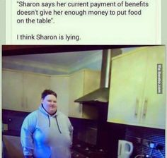 Sharon says her current payment of benefits doesn t give her enough money to put food on the table i think sharon is… http://ibeebz.com