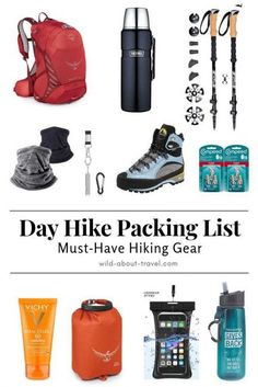 ** Day Hike Packing List Essentials **  A day hike may seem nothing to think much about, but you always have to be prepared. Here's my day hike packing list, with 11 hiking must-have. #hiking #hikinggear #daypack #traveltips