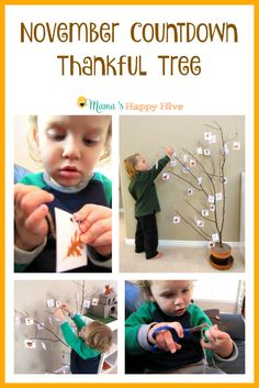 A beautiful Bible Promise November Countdown Thankful Tree for children and adults to enjoy. Also, includes a free Bible Promise printable. Infant Activities, Preschool Activities, Bible Activities, Thankful Tree, Thanksgiving Activities For Kids, Free Bible, Baby Sensory, Montessori Materials, Tot School