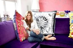 hermes scarves as pillows