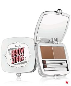 Get naturally-looking and perfectly shaped eyebrows that goes with you everywhere - Benefit Cosmetics Benefit Brow Zings Tame & Shape Kit! Benefit Brow, Benefit Cosmetics, Makeup Cosmetics, Benefit Makeup, Eyebrow Kits, Eyebrow Makeup, Eyebrow Wax, Eyebrow Shapes, Makeup Tips