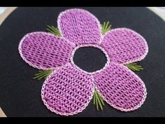 Beautiful hand embroidery Raised chain stitch for dresses - YouTube
