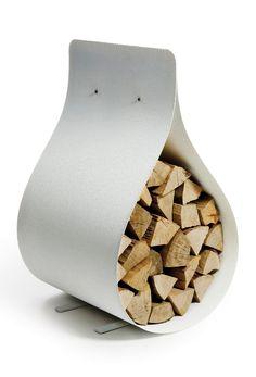 Modern Firewood Rack - Firewood Storage as Chair by Firewood Holder, Firewood Storage, Fireplace Accessories, Interior Accessories, Simple Furniture, Diy Furniture, Recycled Trampoline, Ak47, Range Buche
