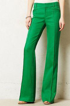 Hello my favorite color!   GREEN   brighton linen wide-legs   anthropologie