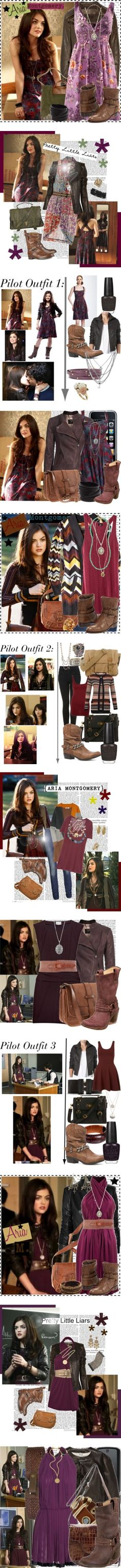 """""""Aria - Pretty Little Liars 1"""" by larinhacarter ❤ liked on Polyvore"""