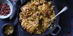 One-pot recipe: Pistachio and rose petal chicken pilaf   - countryliving.co.uk