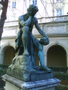 Democritus meditating on the seat of the soul by Léon-Alexandre Delhomme