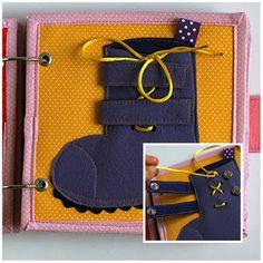 Buckle shoe quiet book page