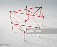 Stock Photo : Red lines connects data points