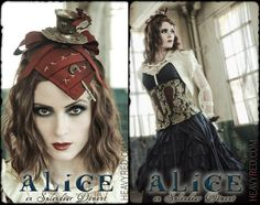 My favorite Halloween costume of the season: Alice in Wonderland by Heavy Red. http://www.lacarmina.com/blog/2012/10/best-halloween-2012-womens-costumes-alice-in-wonderland-designer-corset-dress-heavy-red/