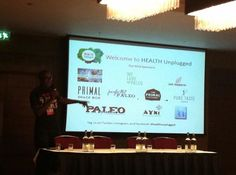 @FitnessExplorer is about to open the first UK Paleo conference! #HealthUnplugged