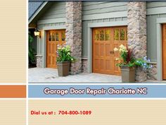 Professional's help is a good choice as you can hurt yourself while repairing the door yourself as the garage door is made with many parts especially torsion springs.  At Charlotte Garage Door, we know how important the role of your garage door is in every day.