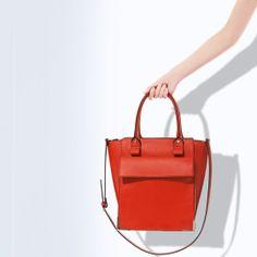 Shopper with pocket Zara United Kingdom, Zara Bags, Zara Women, Hermes Kelly, Handbags, Purses, My Style, Woman, Accessories