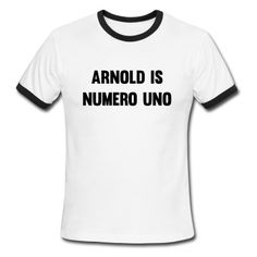 Arnold Is Numero Uno T-Shirt | djbalogh #shirt #gym #fitness #bodybuilding #funny #training #muscle #workout #running #lifting #exercise #cardio #weightlifting #squat #bench #flex #conquer