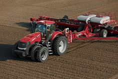 Case IH Magnum with air seed drill Seed Drill, Red Tractor, Case Ih, Agriculture, Farming, Life Skills, Monster Trucks, Vehicles, International Harvester