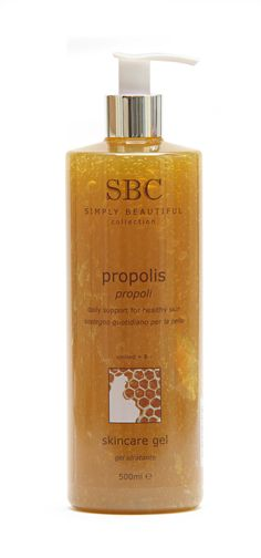 SBC Propolis Skincare Gel is a nurturing skincare gel enriched with soothing Propolis to calm and care for your skin. Propolis is rich in amino acids, minerals, vitamins and bio-flavonoids which lavish the face and body with natural, nourishing care. Recommended for skin with minor complaints, and may be especially helpful on chapped skin.