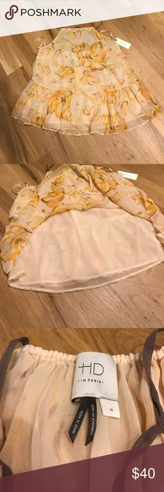 SALE⭐️⭐️⭐️ HD in Paris Anthropologie tank top Beautiful flower patterned tank from anthropologie. Tank has drop waist and is fully lined. Tank is 24 inches long from shoulders to bottom. Comes from smoke free pet free home ❤️ Anthropologie Tops Tank Tops
