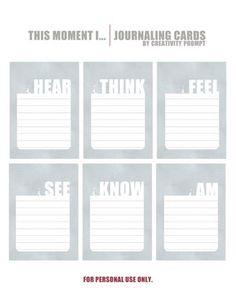 Creativity Prompt's freebies page - lots of stuff: journaling cards, lists, labels & more