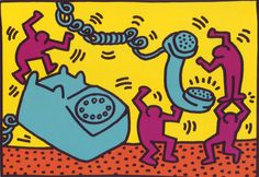 New to BigfootCountryTrader on Etsy: Vintage postcard Keith Haring art postcard art gift gift for art lover Keith Haring art fun art colorful art vintage art USD) Keith Haring Prints, Keith Haring Poster, Keith Haring Art, Principles Of Art Balance, Balance Art, Gifts For Art Lovers, Lovers Art, Doodle Characters, Modern Pop Art