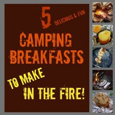 camping breakfast ideas - just in case my husband ever talks me into it Girl Scout Camping, Camping Glamping, Camping And Hiking, Camping Survival, Camping Meals, Family Camping, Camping Hacks, Camping Recipes, Camping Stuff