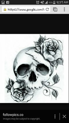 Skull with roses!