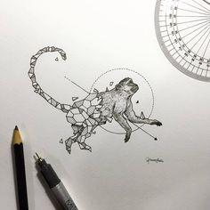 #GeometricBeasts   Monkey
