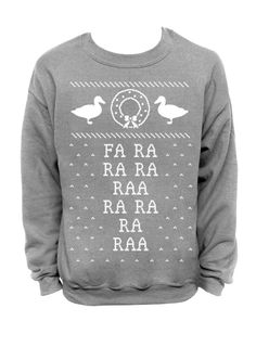 Fa Ra Ra Ra - Ugly Christmas Sweater - Gray Unisex Crew Neck by DentzDesign http://ift.tt/1SIric6 #summer