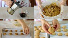 BISCOTTI AL CAFFE'  Ricetta Facile - Homemade Coffee Cookies Easy Recipe