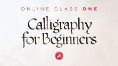 Calligraphy for Beginners – SkillShare Class One