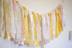 rustic vintage baby shower ribbon tassel banner DIY