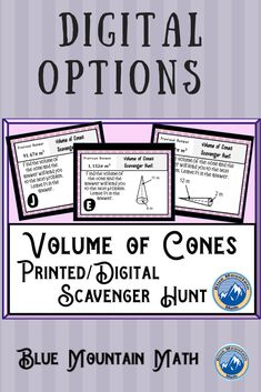 Looking for a fun, engaging activity that gets the kids moving and talking about math? In this resource, students practice finding the volume of cones and you can choose between a printed activity or digital (self-grading) activity. The printed activity works great in the classroom while the digital activity can be used for distance learning or absent students.