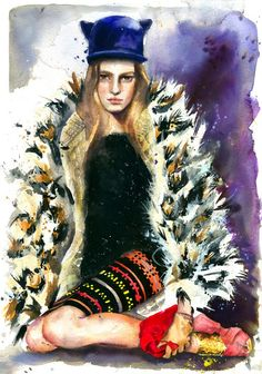 Executive Touch Painter And Fashion Illustrator Marcela Gutierrez