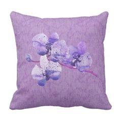 Lavender Purple Orchid Flower Pillow Peonies Summer Bouquet Watercolor Pastel Throw Pillows on sale now for $18.62 16x16 square zipperless throw pillow Use code: COZYUPSAVING #throwpillows #pillowsonsale #sale #usmade #purplethrowpillows #prettythrowpillows