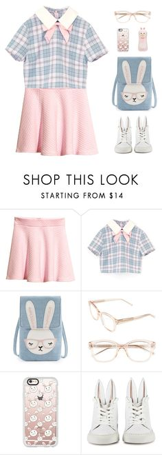 """""""School Girl Harajuku"""" by sweetpastelady ❤ liked on Polyvore featuring H&M, Kate Spade, Casetify, Minna Parikka and Tony Moly"""