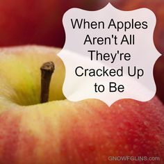 """Ask you doctor, your mom, and a stranger on the street if apples are healthy for you and you'll get the same answer. Absolutely. In fact most people would look at you a little weird if you questioned it. Don't they say """"an apple a day keeps the doctor away""""?    I hate to make your fantasy world come to a screeching halt, but here goes..."""