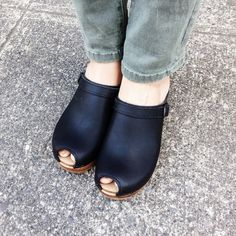 Its the classic clog  with a peep toe twist! Extreme comfort meets extreme style