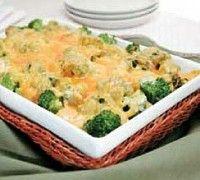 Zapečená brokolice se sýrem a slaninou