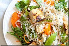 Thai Tofu Salad with Peanut Dressing