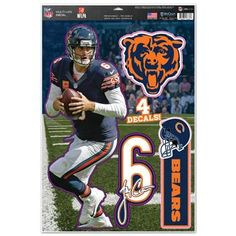 Chicago Bears Jay Cutler Decal 11x17 Multi Use