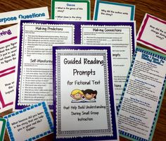 Use these prompts and focused questions to help students gain the reading behaviors and comprehension strategies they need to become stronger readers.