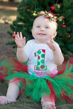 Christmas Number Birthday Tutu Outfit, Christmas Themed Birthday Party Tutu Set on Etsy, $54.95
