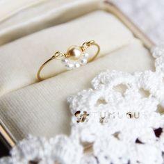 真珠のゆりかご・ワイヤーリング【再販×2】