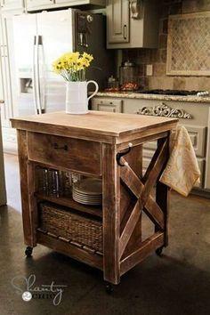 diy kitchen island cart with plans pinterest diy kitchen island