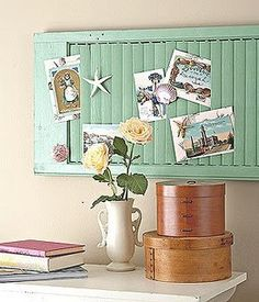 Vintage shutter - would be neat on a big wall or over a desk. Decoration